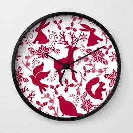 Woodland Wonderland Wall Clock
