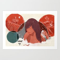 David and Bathsheba Art Print