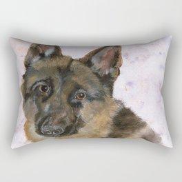 Portrait of a German Shepherd Rectangular Pillow
