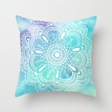 Galaxy Mandala - Watercolor Throw Pillow