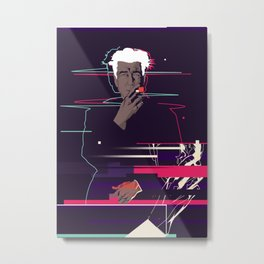David Lynch - Glitch art Metal Print