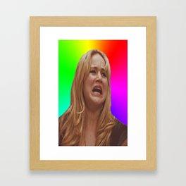 Jennifer Lawrence Rainbow Derp Framed Art Print