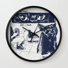 I Watch You Poop... and I Judge Wall Clock