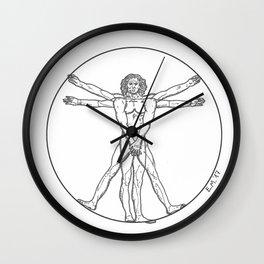 THE SHY VITRUVIAN MAN Wall Clock