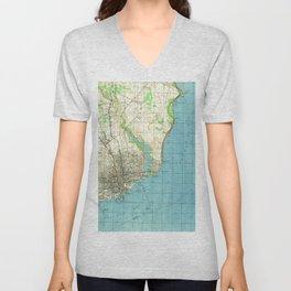 Vintage Map of Pensacola Florida (1944) Unisex V-Neck