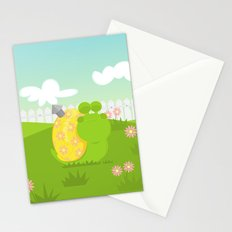 Green Snail (male) Stationery Cards