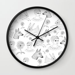 Alice in a Flurry Wall Clock