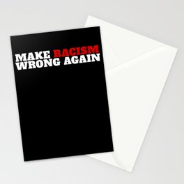 Make Racism Wrong Again Gift Social Justice Equality Protest Stationery Cards