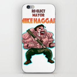 Re-Elect Mayor Mike Haggar iPhone Skin