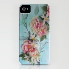 Soft as Silk  -silk floral arrangement on an oil painting... iPhone (4, 4s) Slim Case