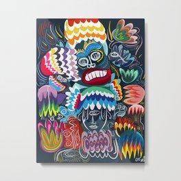 King of Monsters Street Art Graffiti Metal Print
