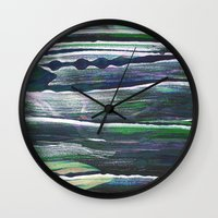 moss Wall Clocks featuring moss by Artwork by Brie