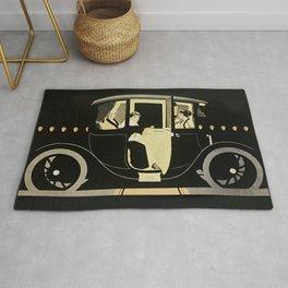 "C Coles Phillips ""Flanders Colonial Electric"" Vintage Car Rug"