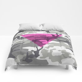 Pink Triangle on Urban Camouflage Comforters