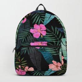 Island Goddess Tropical Black Backpack