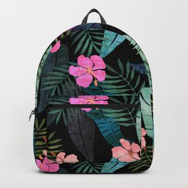 Island Goddess Tropical Black Backpack