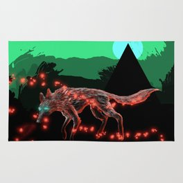 Lost ember wolf Rug