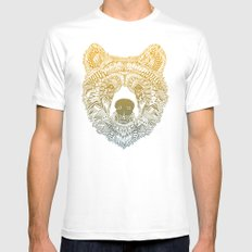 Bear (Savage) White Mens Fitted Tee X-LARGE