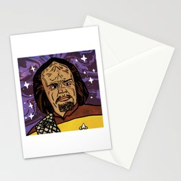 Worf King of Klingons Stationery Cards