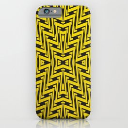 Yellow geometrical lines iPhone Case