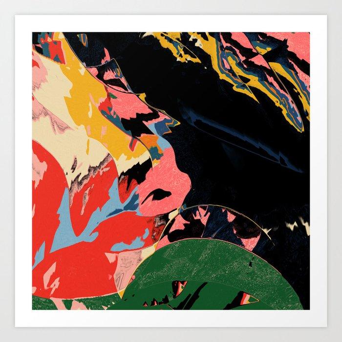 Half past black hour Art Print