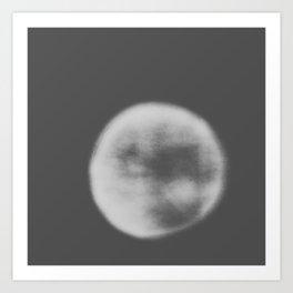 black and white orb Art Print