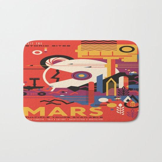 Mars Tour : Space Galaxy Bath Mat