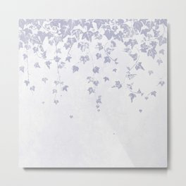 Soft Purple Trailing Ivy Leaf Print Metal Print