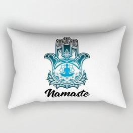 Hand of Fatima | Hamsa Khamsah Khamsa Tafust Rectangular Pillow
