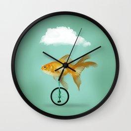 unicyle goldfish III Wall Clock
