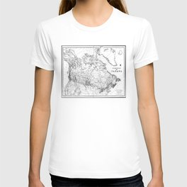 Vintage Map of Canada (1898) BW T-shirt