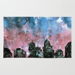 buildings architecture galaxy Rug
