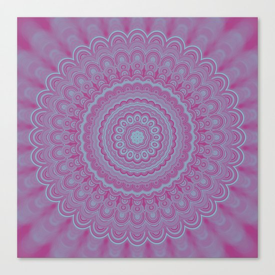 Geometric flower mandala Canvas Print