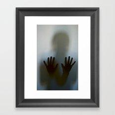 Against the Glass Framed Art Print