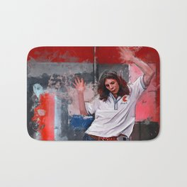 Painting Illustration Of Eddie From The Cult Classic Film Empire Records Bath Mat