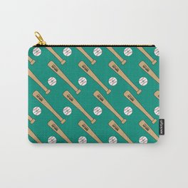 Baseball Bat and Ball Pattern (Teal) Carry-All Pouch