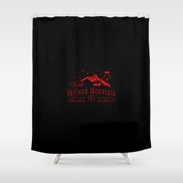 sky land mountain Shower Curtain