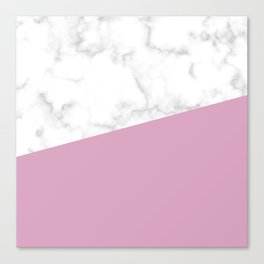 Marble and blush pink Canvas Print