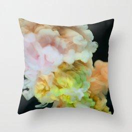 Multicolor smokey texture Throw Pillow