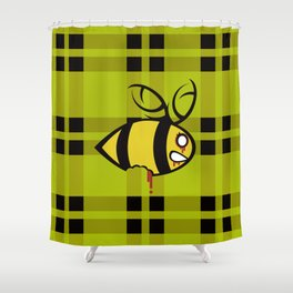 Zombees are Coming Shower Curtain