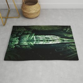 Memorial Glass Prism Engraving at Salisbury Cathedral by Rex Whistler Rug