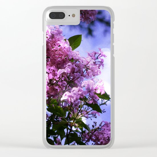 Lilac Sparkle Clear iPhone Case