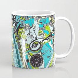 Musically Aqua Coffee Mug