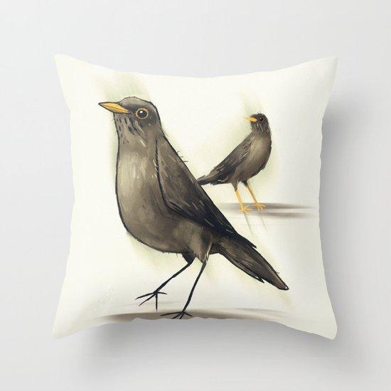 Chilean Fieldfare Throw Pillow