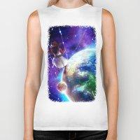 constellation Biker Tanks featuring Constellation by J ō v