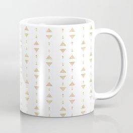 Modern geometric gold triangles Coffee Mug