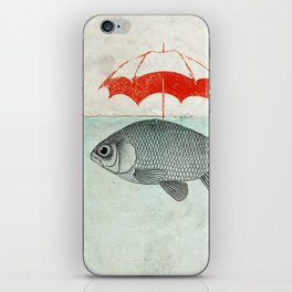 Umbrella Goldfish iPhone Skin
