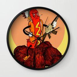 bad ass hotdog Wall Clock