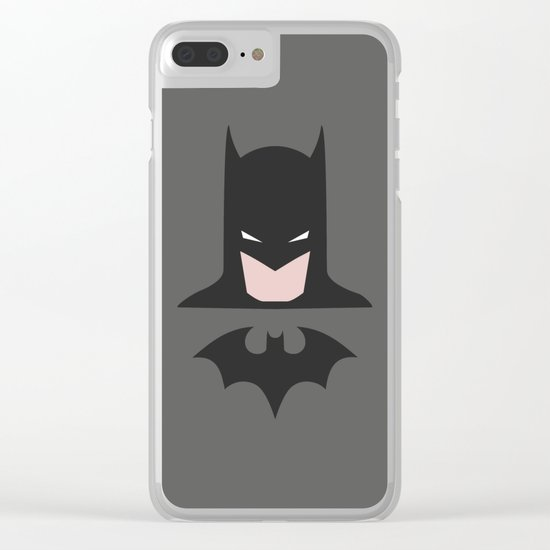 Hero Bat-man, comic Clear iPhone Case