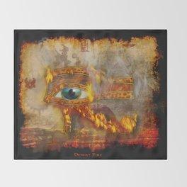 Desert Fire - Eye of Horus Throw Blanket
